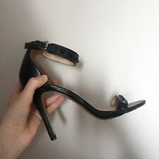 Black Stud Strap Stiletto Heels Used