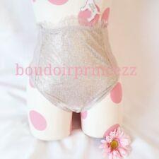 NEW Victorias Secret silver shine shimmer high waist thong panties Large L 3TTW
