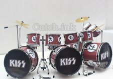 ERIC CARR KISS TRIPPLE BASS DRUM SET DRUM KIT MINIATURE REPLICA FOR DISPLAY ONLY