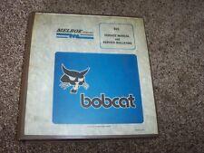 Bobcat 825 Skid Steer Loader Melroe Bulletins Shop Service Repair Factory Manual