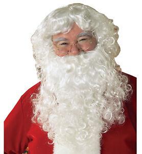 Santa Claus Old Man Christmas Men Costume Wig And Beard Set