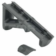 AIRSOFT STYLE ANGLED FOREGRIP AEG GRIP BLACK SWAT 20mm RAIL UK