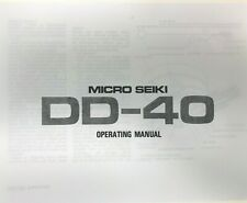Micro Seiki Model DD-40 Turntable Owners Manual