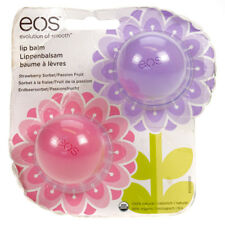 EOS Lip Balm Pack of 2 Natural Strawberry & Passion Fruit Damaged Packaging