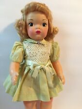 Vintage Terri Lee Green Cotton School Dress 1950's With Tag & Very Nice No Doll