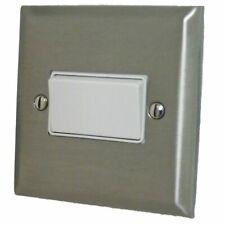 G&H SSS69W Spectrum Stainless Steel 1 Gang Triple Pole 10A Fan Isolator Switch