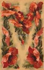 "Vintage Victorian Klein Floral Letter Initial ""M""  2"" x 3"" Fridge Magnet"