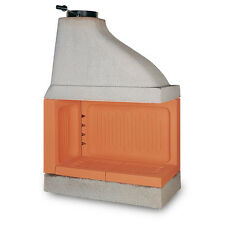 Wood Burning Fireplace Ecomax A90, Made in Italy, Refractory Masonry Insert