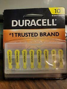 DURACELL 16 Batteries DA10B16ZM ZINC AIR 1.45 v 10 New Sealed