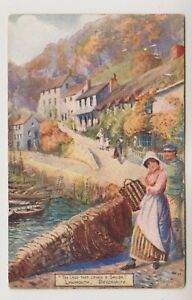 Devon postcard - The Lass that Loves a Sailor, Lynmouth by Jotter (A2942)