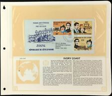 Ivory Coast 1981 Royal Wedding FDC + Info Page #V6458