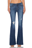 SIWY DENIM Janis Midrise Flare Distressed Jeans 26 Treasure Map Blue 26 $178 #1