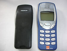 NOKIA 3210 MOBILE PHONE GUARANTEED & NEW BLUE NOKIA FRONT,  LATEST FIRMWARE VGC