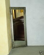 Wandspiegel mit Verzierungen Antik Silber 41 x 100 cm Spiegel Barock Prunk NEU