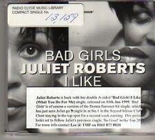 (BO332) Juliet Roberts, Bad Girls / I Like - 1999 DJ CD
