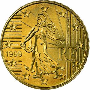 [#722878] France, 10 Euro Cent, 1999, SUP, Laiton, KM:1285