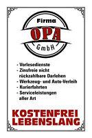 Firma Opa GmbH Blechschild Schild gewölbt Metal Tin Sign 20 x 30 cm W1093