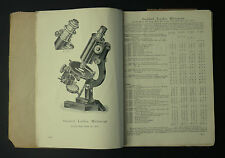 c.1925 R & J Beck Microscopes And Apparatus Illustrated Catalogue & Price List