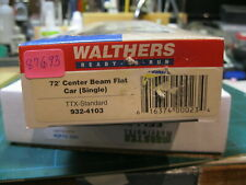 Walthers 932-4103 72' center beam flat car  TTX standard #87693