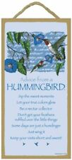 Advice From a Hummingbird - Wooden Sign Plaque - Made in USA