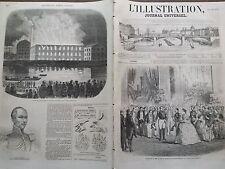 L'ILLUSTRATION 1855 N 665 RECEPTION DE LL.MM. AU PALAIS DE L' INDUSTRIE