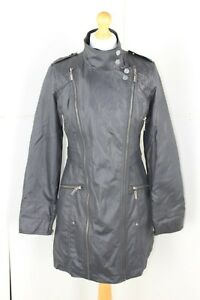 HENRY HOLLAND ladies black coat with spotty lining size 12