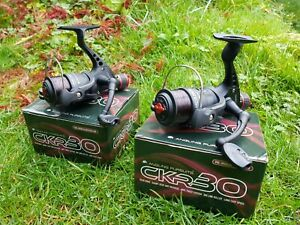 2 x Angling Pursuits CKR30 Coarse Fishing Reel with 8lb Line SIZE 3000