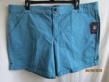 Gloria Vanderbilt Women Size Plus 24W Steel Blue Maren Style Shorts Cuffed NWT