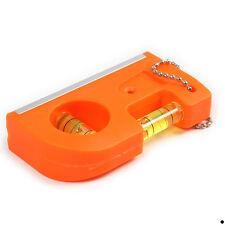 Mini ABS Key Chain Level With Magnet V Stripe Charms Keyfob Key Ring