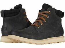 Sorel Men's Madson II Moc Toe Waterproof Lace Up Boots - Coal 1915021-048