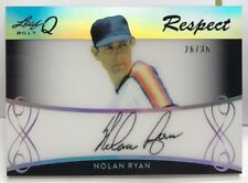 Nolan Ryan 2017 Leaf Q Respect SILVER Spectrum on-card Autograph Auto #'d 26/35