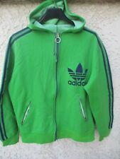 Veste à capuche ADIDAS 70's vintage Trefoil vert tracktop jacket jacke Ireland M