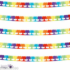 4m Hawaiian Beach Party Tropical Rainbow Decoration Palm Tree Garland Bunting