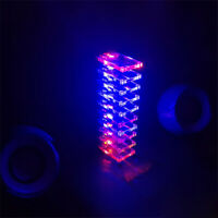 Voice Control Electronic Crystal Column DIY Kit Colorful Music Spectrum Suite