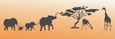 Wandschablone Dekorschablone Kindermotiv Malerschablone Decor AFRICA 100x33cm