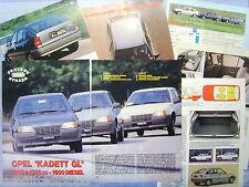 QUATTROR984-PROVA SU STRADA/ROAD TEST-1984- OPEL KADETT GL -7 fogli