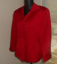 Exquisite Vintage Christian Dior Woman's Red Blazer/Jacket Button Down Size 8