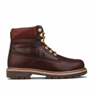 Men's Caterpillar Colorado Lux Leather Upper Breathable Boots in Brown