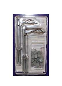 Dapol OOCAT1 - Catenaria Mast X 10 Confezione Calibro di Oo Plastica Kit - 1st