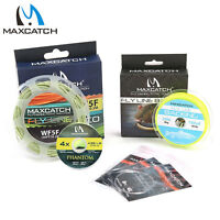Maxcatch Fly Line Combo WF1F-8F ECO Floating Fly Line, Backing, Tapered Leader