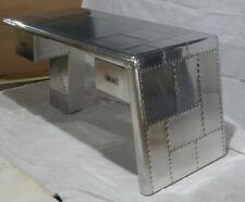 Aviator Office Desk Aluminium Game Desk Vintage Industrial Style