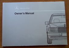 1991 Mercedes Benz 300D/300 D Owners Manual-W124-New Old Stock