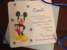 Mickey Mouse Birthday Invitations - Pack Of 10 Invitations