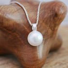 925 Sterling Silver Necklace White/ Ivory Freshwater Pearl Pendant With Gift Box