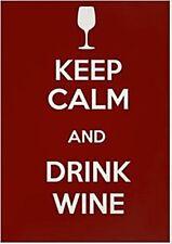 Keep Calm & Drink Wine steel fridge magnet    (gg)
