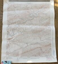 Vintage1942 Tennessee Map~Swan Island~Clinch River~Clinch Mt~TN USGS Topo Map