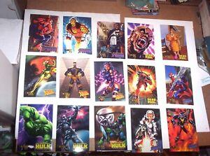 1998 Marvel Creators Collection 98 MCC BASE 72 CARD SET AVENGERS DEADPOOL SKYBOX