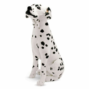 "30"" Large Plush Dalmatian Stuffed Animal Toy Firefighter Dog White Black Spots"