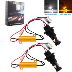 1156 BAU15S PY21W 7507 LED Bulb Amber White Dual Color Switchback LED Bulbs 12V