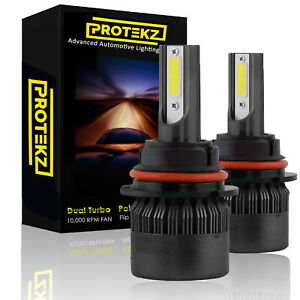 Protekz LED Headlight Low Beam Bulbs for 1992-2007 Ford TAURUS 9007 6000K